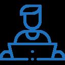 Metricoid-Remote work Icon